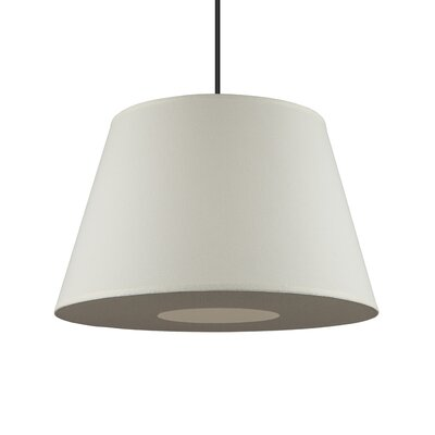 Reza 1-Light Pendant Shade Color: White Linen