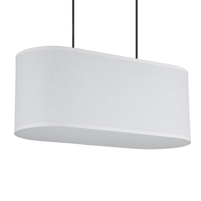 Blip 2-Light Pendant Shade Color: White Linen