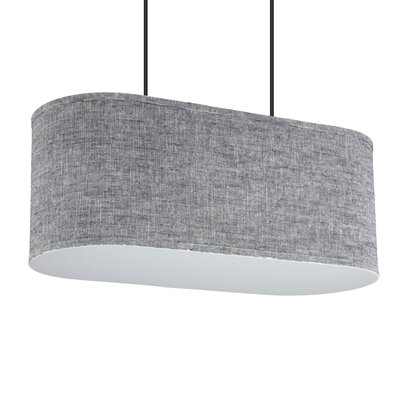 Blip 2-Light Pendant Shade Color: Red Dupioni