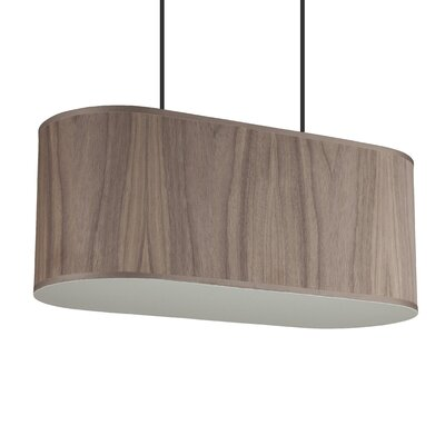 Blip 2-Light Pendant Shade Color: Walnut Veneer