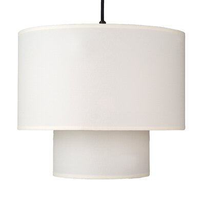 Deco 1-Light Drum Pendant Shade Color: Natural Linen