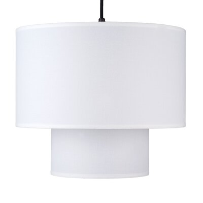 Deco 1-Light Drum Pendant Shade Color: White Linen