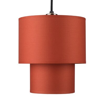 Deco 1-Light Small Pendant Shade Color: Black Organza