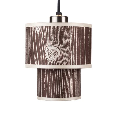Deco 1-Light Mini Pendant Shade Color: Red Dupioni Silk