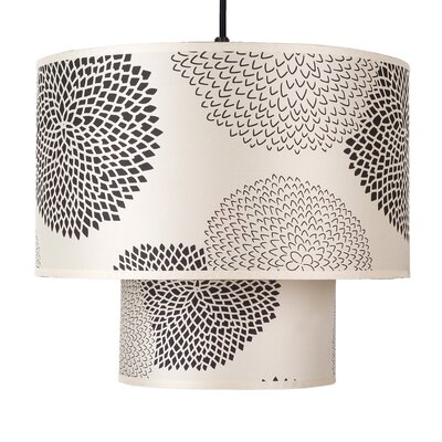 Deco 1-Light Drum Pendant Shade Color: Faux Bois Dark