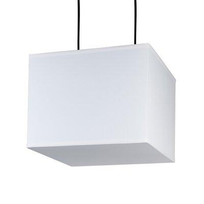 Lights Up! Rex 2 Light Pendant - Shade Color: Silver Organza