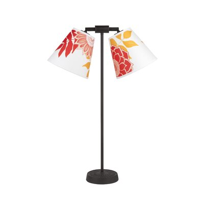 """Lights Up! Zoe 26"""" H Lamp with Empire Shade - Shade Color: Gold Silk Glow"""