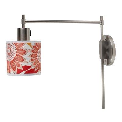 Lights Up! Walker 1 Light Wall Sconce - Shade Color: Cream Spanish Linen