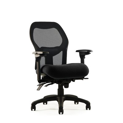 1000 Series Mesh Back Task Chair Seat: Medium Seat, Minimal Contour, Fabric: Revive -?Ink Product Picture 884