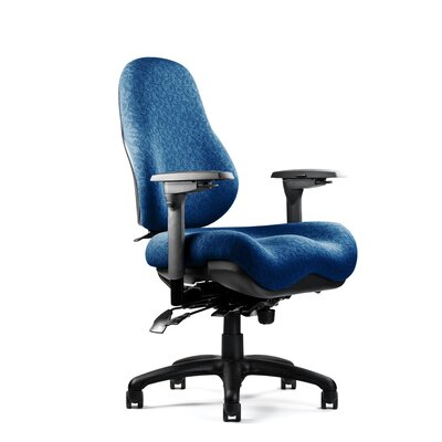8000 Series High Back Task Chair Upholstery: Revive - Ebony, Seat: Large Seat, Deep Contour