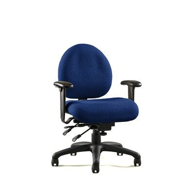 E Series Chair with Contoured Seat Fabric: Revive -Ink, Arms: Lateral Sliding Product Picture 904