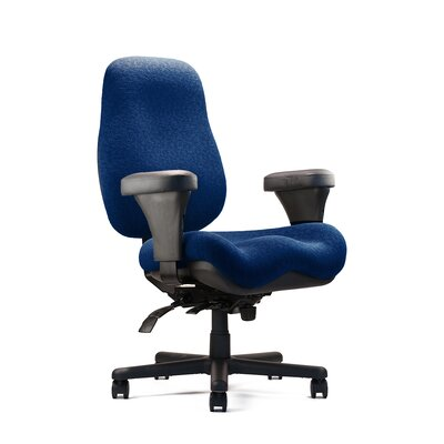 Big and Tall Jr. Large Back Task Chair with Large Seat Seat: Large Seat, Minimal Contour, Fabric: Re Product Image 645