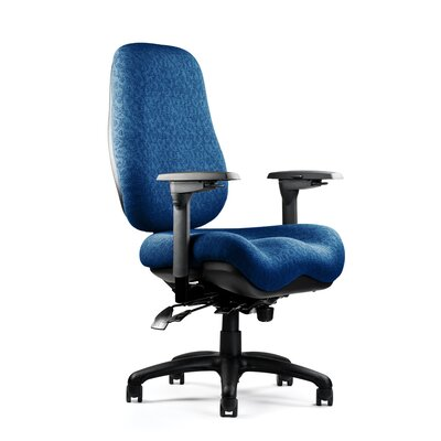 6000 Series High Back Task Chair Fabric: Revive - Ebony, Seat: Medium Seat, Deep Contour Product Picture 1127