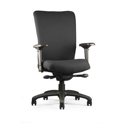 "Neutral Posture U4ia Upholstered Back Chair - Arms: 3"" Adjustable, Seat: Medium Seat, Fabric: Ace - Peony"