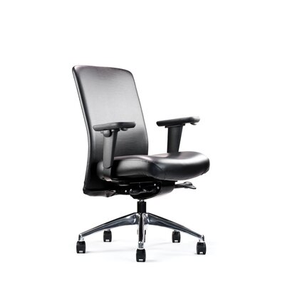 Balance Chair Tilt: Knee-Tilt, Upholstery: Ultraleather - Raven Wing, Arms: Forward Sliding Gelthane Pad