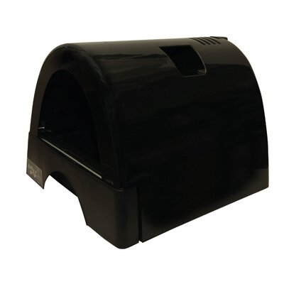 Designer Cat Litter Box with Black Shiny Cover