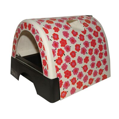 Designer Cat Litter Box with Flower Cover