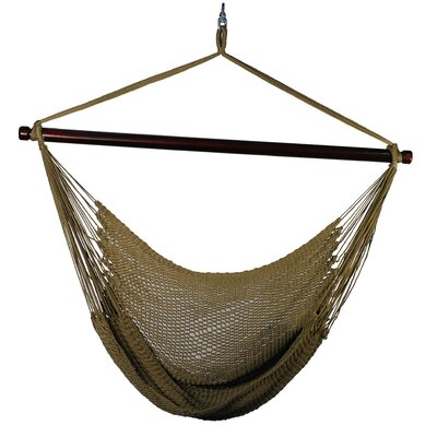 Hanging Caribbean Polyester Chair Hammock Color: Tan