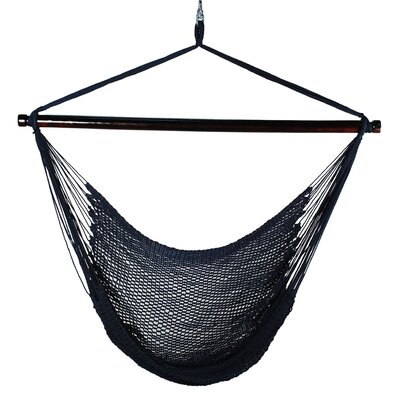Hanging Caribbean Polyester Chair Hammock Color: Navy