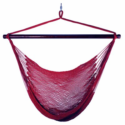 Hutchinson Caribbean Polyester Chair Hammock Color: Burgundy