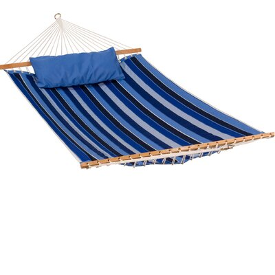 Sunbrella Tree Hammock Color: Milano Cobalt Stripe/Canvas Capri Solid