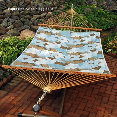 Reversible Quilted Polyester Tree Hammock Color: Esprit Robin/Robin Egg Solid