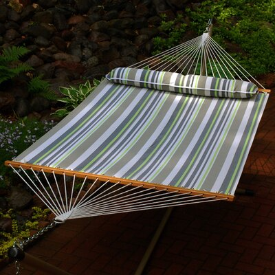 Quick Dry Polyester Tree Hammock Color: Green / Grey