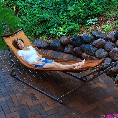 EZ-Cozy Portable Nylon Camping Hammock with Stand