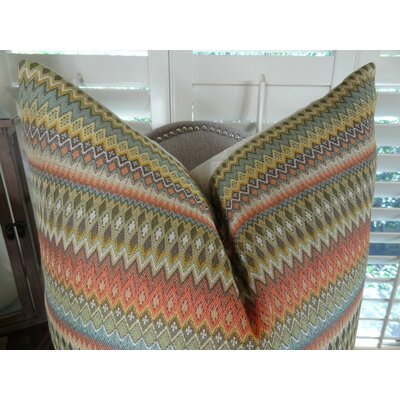 Zig Along Handmade Throw Pillow Size: 20 H x 36 W
