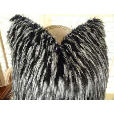 Wolf Fur Handmade Throw Pillow Size: 20 H x 30 W