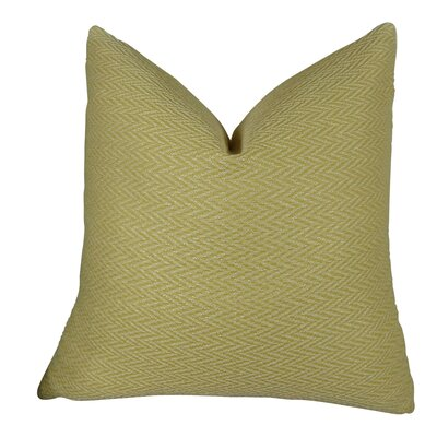 Nesting Zigzag Handmade Throw Pillow Size: 12 H x 25 W