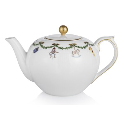Star Fluted Christmas Teapot 1016965