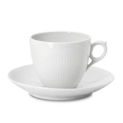 White Plain 5.5 Oz Coffee Cup And Saucer
