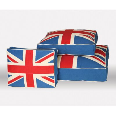 "Union Jack Pet Bed Size: Large (6"" H x 34"" W x 28"" D)"