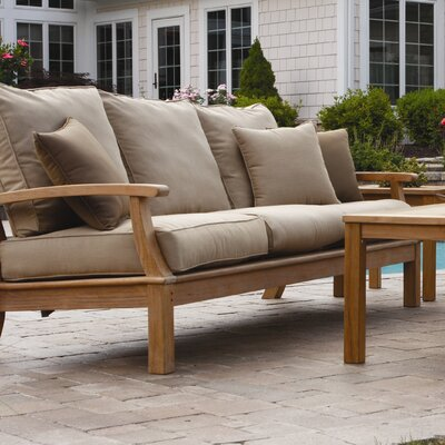 Monterey Deep Seating Sofa with Cushions Fabric: Natural