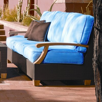 Ciera Sofa with Cushions Fabric: Air Blue