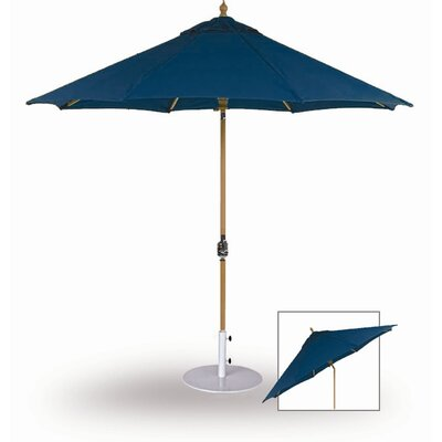 9 Dover Market Umbrella Fabric: Jockey Red, Opening Mechanism: Pulley