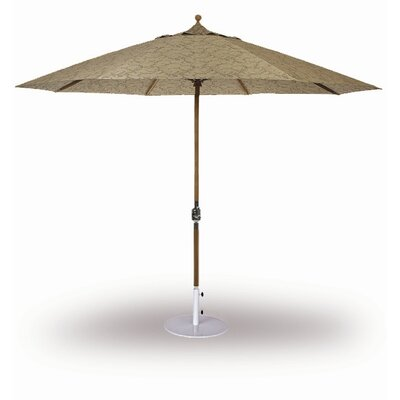 9 Dover Market Umbrella Fabric: Cocoa, Opening Mechanism: Crank and Tilt