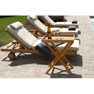 Boxed Outdoor Chaise Lounger Cushion Fabric: Natural