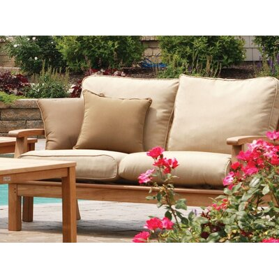 Monterey Deep Seating Loveseat with Cushions Fabric: Spa