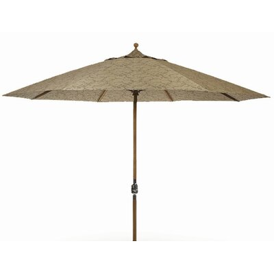 9 Dover Market Umbrella Fabric: Cocoa, Opening Mechanism: Crank and Tilt