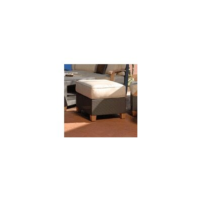 Ciera Ottoman with Cushion Fabric: Jockey Red