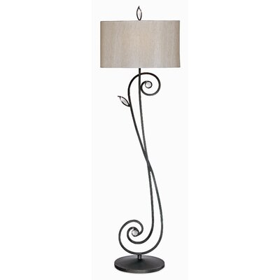 Jardin Du Jour Garden Symphony Floor Lamp in Bronze with Gold