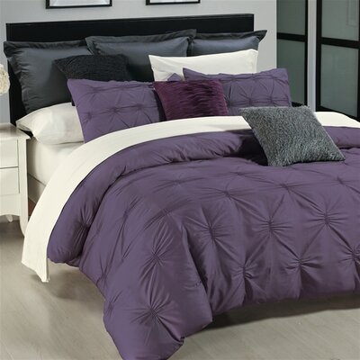 Kiera Duvet Cover Set Size: King