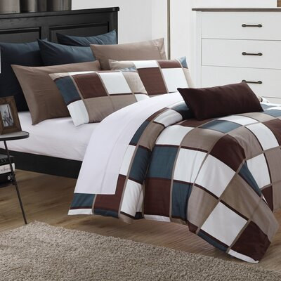 City Squares Duvet Cover Set Size: Super King