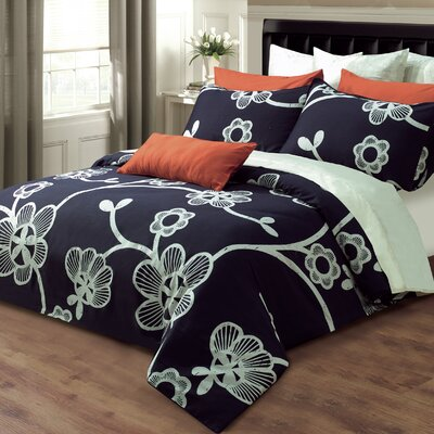 Amy Cotton 2 Piece Duvet Cover Set Size: King