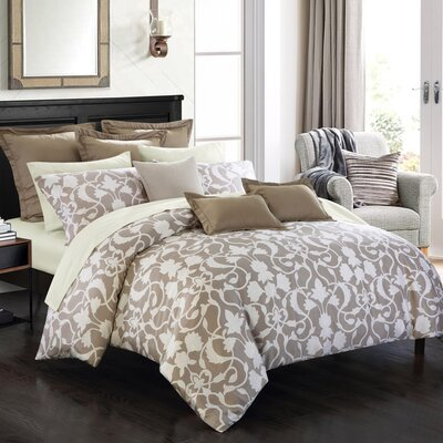 Symphony Duvet Cover Set Size: Double