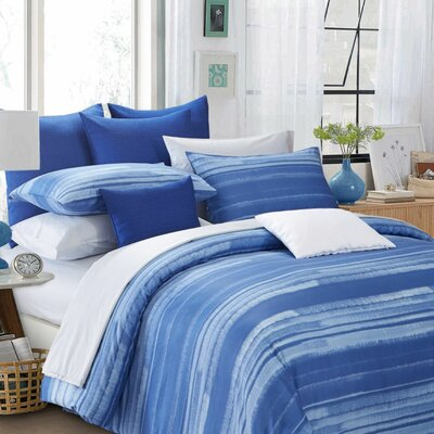 Vista Reversible Duvet Cover Set Size: King