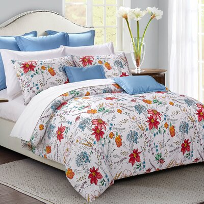 Jardin Reversible Duvet Cover Set	 Size: King