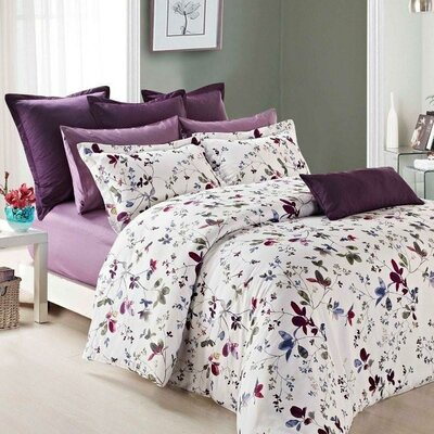 Lara Duvet Cover Set Size: Twin